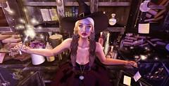 Sparkling witch (мα∂ємσιѕєℓℓє ѕαтιηє) Tags: genusproject insol spellbound maxigossamer pixicat fashiowlposes justmagnetized cazimi ama attic salem witch halloween secondlife
