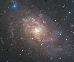 Trichromie sur M33 (Tomastro38) Tags: galaxie tomastro animation thomas mollier m33 telescope camera classe decouverte comite entreprise auvergne rhone alpes savoie isere ain drome ardèche eleve college lycée école primaire