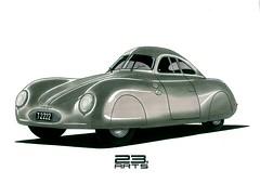 Porsche Type 64 (bassmaddog1989) Tags: design professionals cars khnadu pencildrawing cardrawing cardrawings instadraw instadrawing talent kharkov porsche 23arts professional