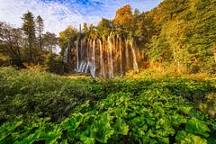 Morning Falls (orkomedix) Tags: plitvice lake lakes waterfall croatia national park water sky morning sunrise canon eosr samyang 14mmf28 phototrip vacation nd filter exposure nature