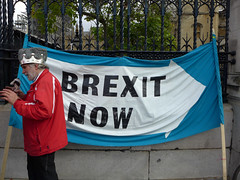 Brexit_Now (ChiralJon) Tags: brexit now westminster london party banner demonstrator house commons houses parliament londres londra londyn news journalism photography