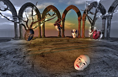Appearance (Ladmilla) Tags: art digital gallery exhibition artgallery digitalart landscape texturized textured masks power appearance sky clouds ruins arches trees theedge edge theedgeartgallery poem poet poetry literature words afflatus artists surreal surrealism
