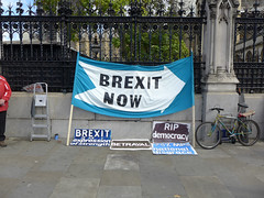Brexit_Banners (ChiralJon) Tags: brexit now party houses parliament banners westminster london londra londyn journalism news media politics londres
