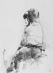NUACA (Gasheh) Tags: art painting drawing sketch portrait figure girl student line pen pastel gasheh 2018