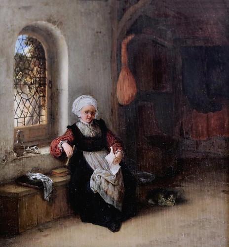 IMG_0608E Adriaen van Ostade. 1610-1685; Haarlem.   La femme à la lettre.   The woman to the letter. Paris Petit Palais (Musée des Beaux Arts de la Ville de Paris)