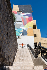 Colorful Amman (Tom R Cottrell) Tags: amman jordan middleeast cityscene downtown colorful stairs mural