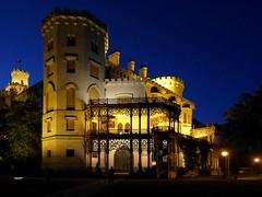 Schloss Hluboka (fugun) Tags: nacht weniglicht stimmung blauestunde schlosshluboka´