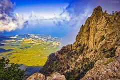 HDR4 (Mikhail Lukyanov) Tags: russia crimea landscape mountain sea sky clouds rocks trees beautiful hdr