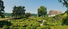 The overhanging gardens of Marquessac (pe_ha45) Tags: marquessac château castle schloss garden garten buchsbaum boxtree périgord france frankreich buxussempervirens buiscommun buistoujoursvert bossocommune dordogne