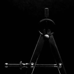 Edges (Explored) (lclower19) Tags: calipers industrial edges rim metal black white bw closeup atsh lowlight lowkey explored odt