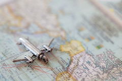 Travel (JMS2) Tags: macro map airplane charm travel closeup canon