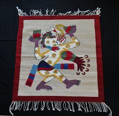 Zapotec Weaving Textiles Mexican Oaxaca (Teyacapan) Tags: tapete zapotec rugs weavings textiles teotitlan bulmaroperez mictlantecuhtli mexico oaxaca