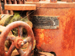 Product of G. & J. Weir Ltd. (nl042) Tags: machinery rust oxidation abandoned cobweb