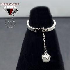 Bague fleur de perle blanche en argent 925 (olivier_victoria) Tags: argent 925 bague ajustable perle fleur blanche unique taille