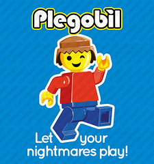 "You said ""troll"" ? (captainsmog) Tags: lego playmobil fun iconoclastic illustrationtshirt humour humor funny minifigure"