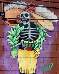 La Calavera Catrina with Boa (Atelier Teee) Tags: terencefaircloth atelierteee mural streetart chicago illinois littlevillage lacalaveracatrina