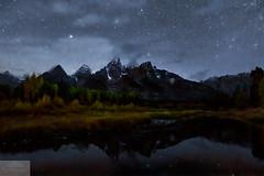 Schwabacher at Night (Wycpl) Tags: reflection nightscape fallcolors grandtetonnationalpark jcpphotography wyoming
