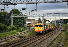 20118 and 20132 pass Electro Motive at Longport (robmcrorie) Tags: 20118 20132 dcr crewe stoke longport esso sidings nikon d850 electromotive electro motive 56007