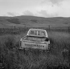 Volkswagen, Washington (austin granger) Tags: volkswagen washington field grass time evidence abandoned pickup rural film square gf670