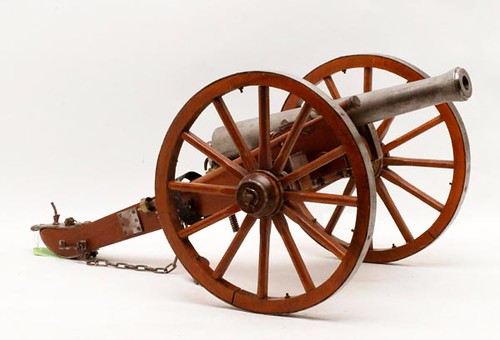 Small 20th c. Civil War Scale Model working black powder cannon ($336.00)