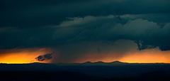 """""""Storm and Lights"""" (westwood outdoors) Tags: soligor 300mm oldlens vintagelenses primelens landscape thunderstorm sunset mountains berge clouds wolken colors germany westerwald landschaft"""