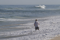 The Surfcaster (brucetopher) Tags: fish fishing surf wave cast surfcasting ocean sea man nature sport outdoors fisherman break natural outdoor tide breakers casting throw sportsman summer beach wet sand horizon extreme wash distance overcome