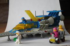 497 + 70841 (percy.pine) Tags: classic movie lego space explorer galaxy spaceman benny spaceship 1980s something 497