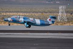 Just Lucky take off (SBGrad) Tags: 200500mmf56e 2019 alr aerovodochody d750 delphin l29 n179ep nevada reno renoairraces stead aircraft airplane airport jet
