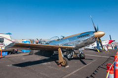 Goldfinger in the pits (SBGrad) Tags: 200500mmf56e 2019 alr d300s d750 friday goldfinger mustang nx551mb nevada nikkor nikon northamericanaviation p51 reno renoairraces stead tokina unlimited unlimitedgold aircraft airplane airport atx116prodx