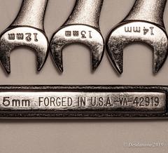Combination Wrenches (Metric) (Desdanova) Tags: macro macromondays knolling stockton california unitedstatesofamerica