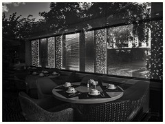 Un petit déjeuner au paradis (geolabidouille) Tags: noirblanc blackwhite fujifilm paysage paysageurbain monochrome fujifilmx20