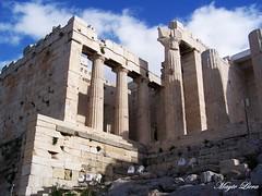 0080 - Atenas. Los Propileos del Partenón (detalle) (Mayte Llera) Tags: grecia atenas partenón