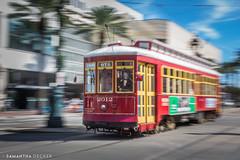 A Cable Car in New Orleans (Samantha Decker) Tags: louisiana bigeasy nouvelleorléans streetcar canonef50mmf14usm neworleans canoneos6d samanthadecker louisiane la unitedstatesofamerica