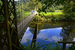 Betwys y Coed (philept1) Tags: water wales river reflection outdoors afon conwy snowdonia footbridge countryside view bridge suspension betwysycoed