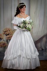Bride (blackietv) Tags: bride bridal white wedding romantic gown dress ruffles petticoat fullskirt tgirl crossdresser crossdressing transgender