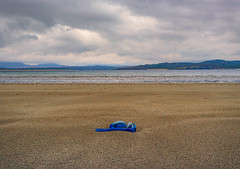 Flotsam or jetsam washed up on the beach (masonandy2015) Tags: donegal ireland abandoned bay beach clouds flotsam goggles hills inlet jetsam lost lowtide mountains ocean sand sea tidal tides