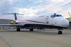 N831US USAJet MD-83F at KCLE (GeorgeM757) Tags: n831us vrmbj ecfvx ecccv md80 freighter cargo kcle clevelandhopkins georgem757 aircraft aviation airplane airport mcdonnelldouglas