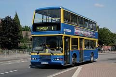 844 R844MFR (Metrobus) Crawley 11.6.05 (Rays Bus Photographs) Tags: metrobus 844 volvoolympian eastlancs r844mfr