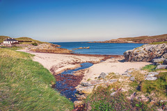 Ireland-2 (masonandy2015) Tags: donegal ireland northernireland bank beach calm coast cottage grass headland ocean rocks sand sea seaweed sky stream