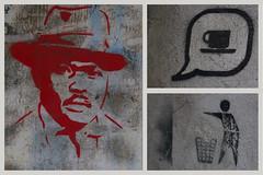 Un café svp! (AlainC3) Tags: artderue streetart pochoir stencil nikond7500 budapest hongrie café coffee symbole poubelle thrashcan homme men rouge red hungary