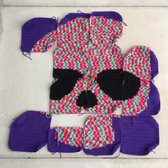 An overview of my progress (crochetbug13) Tags: crochet crocheted crocheting crochetflower crochetyarnbomb dayofthedead crochetskull