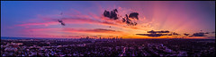Champagne Supernova (Rodrick Dale) Tags: panorama sunset toronto ontario canada drone cloud sky