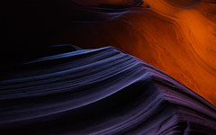 forged by water (onefivefour) Tags: arizona canyon slot antelope rock blue red stone flow
