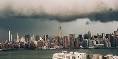 Clouds Over Manhattan (Airicsson) Tags: storm manhattan street urban skyline empirestatebuilding cityscape rain city newyork usa america nyc building skyscraper