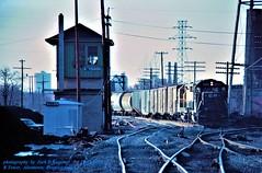 CR 3023-3635, PPAL-5, Allentown, PA. 12-15-1979 (jackdk) Tags: train railroad railway locomotive emd emdgp40 emdgp402 emdgp35 gp40 gp402 gp35 cr conrail cnj reading readingline readingrailroad tower rtower allentown allentownpa fallenflag standardcab freighttrain freight switches cr3023 3023 centralrailroadofnewjersey