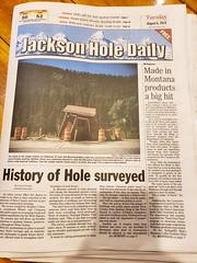 History Of Hole (Joe Shlabotnik) Tags: jackson galaxys9 2019 august2019 wyoming gunbarrel hole cameraphone newspaper