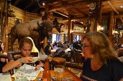 Dinner At The Gun Barrel (Joe Shlabotnik) Tags: jackson bison 2019 violet august2019 proudparents gunbarrel wyoming sue afsdxvrzoomnikkor18105mmf3556ged