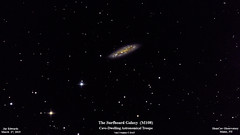 M108_SurfboardGalaxy_27Mar2019_HomCavObservatory_ResizeDownToHD (homcavobservatory) Tags: homcav observatory barred spiral galaxy messier 108 m108 ngc 3556 8inch f7 criterion newtonian reflector canon 700d t5i dslr losmandy g11 mount gemini 2 control system 80mm celestron shorttube orion ed80t cf f6 apochromatic refractor zwo asi290mc camera autoguider phd2 astronomy astrophotography