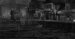 Serenity (riverboucher) Tags: sl secondlife firestorm landscape paintshoppro blackandwhite eerie creepy water