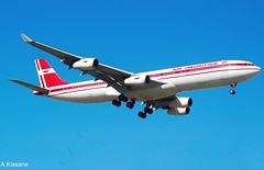 AIR MAURITIUS A340 3B-NBD (Adrian.Kissane) Tags: aviation arriving flight flying australia sky outdoors airliner airline jet plane aircraft airbus aeroplane 3bnbd 194 1212008 a340 melbourne airmauritius